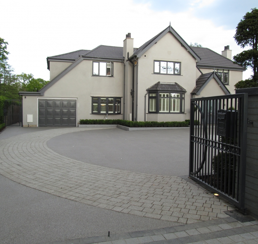 home and driveway