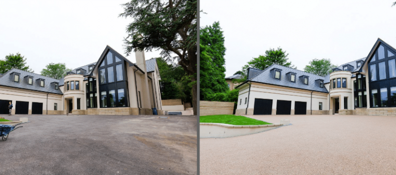 Before and After 360 Degree Tour Of Resin Driveway in Cheshire!
